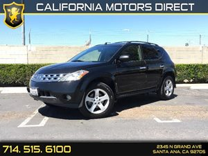 2004 Nissan Murano SL Carfax Report - No AccidentsDamage Reported  Super Black  We are not re