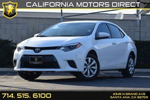 2015 Toyota Corolla LE Carfax 1-Owner Audio  Auxiliary Audio Input Body-Colored Front Bumper B
