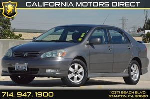 2003 Toyota Corolla S Carfax 1-Owner - No AccidentsDamage Reported 4 Cylinders Air Conditioning