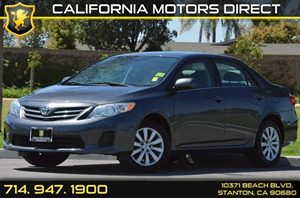 2013 Toyota Corolla LE Carfax Report - No AccidentsDamage Reported 4 Cylinders Air Conditioning