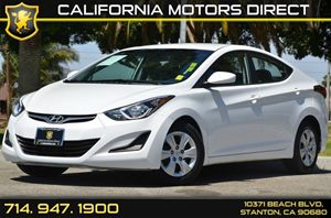 2016 Hyundai Elantra SE Carfax 1-Owner - No AccidentsDamage Reported 4 Cylinders Air Conditioni