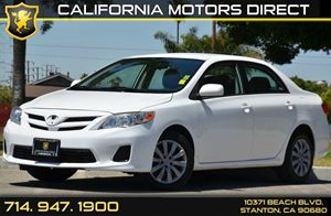 2012 Toyota Corolla LE Carfax Report 4 Cylinders Air Conditioning  AC Audio  AmFm Stereo A