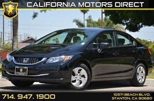 2014 Honda Civic Sedan LX Carfax 1-Owner 4 Cylinders Air Conditioning  AC Audio  AmFm Stere