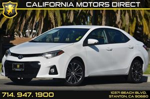 2015 Toyota Corolla S Carfax 1-Owner 4 Cylinders Air Conditioning  AC Audio  AmFm Stereo A