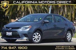 2016 Toyota Corolla L Carfax 1-Owner - No AccidentsDamage Reported 4 Cylinders Air Conditioning