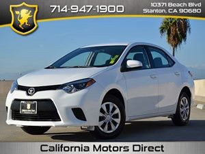 2014 Toyota Corolla L Carfax 1-Owner - No Accidents  Damage Reported to CARFAX  Super White