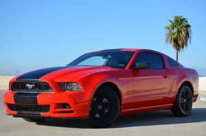 2014 Ford Mustang V6 Carfax Report  Race Red CLEAN TITLE  20945 Per Month - On Approved Cr