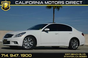 2012 Infiniti G37 Sedan Journey Carfax 1-Owner - No Accidents  Damage Reported to CARFAX Air Con