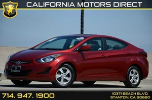 2015 Hyundai Elantra SE Carfax 1-Owner - No Accidents  Damage Reported to CARFAX Air Conditionin