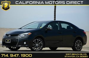 2015 Toyota Corolla S Plus Carfax 1-Owner - No Accidents  Damage Reported to CARFAX Air Conditio