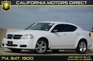2013 Dodge Avenger SE Carfax 1-Owner - No Accidents  Damage Reported to CARFAX Air Conditioning
