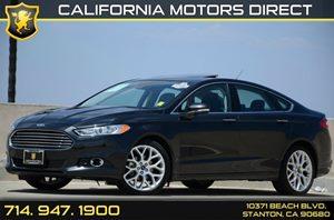 2013 Ford Fusion Titanium Carfax 1-Owner Moonroof WUniversal Garage Door Opener Titanium Driver
