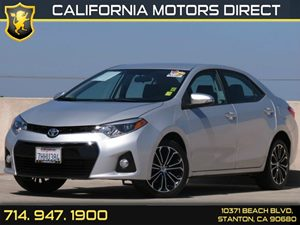2015 Toyota Corolla S Plus Carfax 1-Owner Air Conditioning  AC Audio  Auxiliary Audio Input