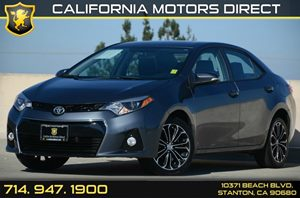 2014 Toyota Corolla S Carfax Report - No AccidentsDamage Reported Air Conditioning  AC Audio