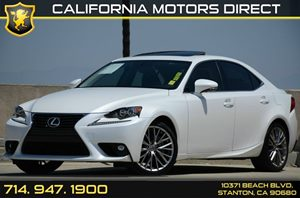 2015 Lexus IS 250  Carfax Report Navigation System Package Premium Package Air Conditioning  A