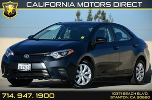2015 Toyota Corolla LE Carfax Report - No AccidentsDamage Reported Air Conditioning  AC Audio
