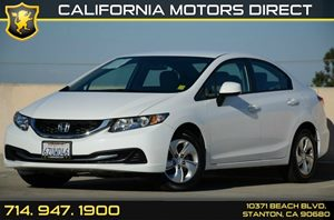 2013 Honda Civic Sedan LX Carfax Report Air Conditioning  AC Audio  Auxiliary Audio Input Au