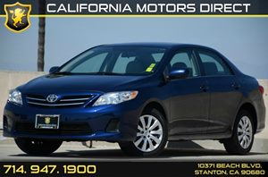 2013 Toyota Corolla LE Carfax Report Air Conditioning  AC Audio  Auxiliary Audio Input Audio