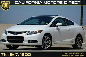 2012 Honda Civic Coupe Si Carfax Report - No AccidentsDamage Reported Air Conditioning  AC Au