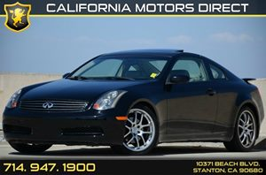 2005 Infiniti G35 Coupe  Carfax Report - No AccidentsDamage Reported Air Conditioning  AC Aud