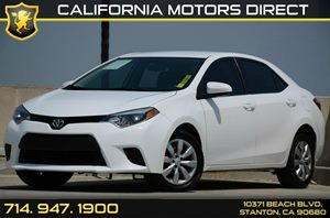 2014 Toyota Corolla LE Carfax Report - No AccidentsDamage Reported Air Conditioning  AC Audio
