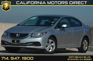 2013 Honda Civic Sedan LX Carfax 1-Owner 4 Cylinders Air Conditioning  AC Audio  Auxiliary A