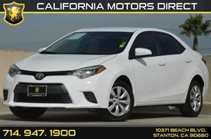 2015 Toyota Corolla LE Carfax 1-Owner - No AccidentsDamage Reported 1 12V Dc Power Outlet 4 Cyl