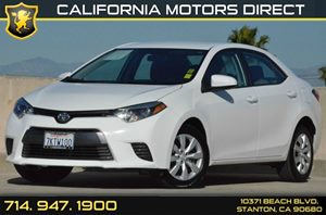 2015 Toyota Corolla LE Carfax 1-Owner 1 12V Dc Power Outlet 4 Cylinders Air Conditioning  AC