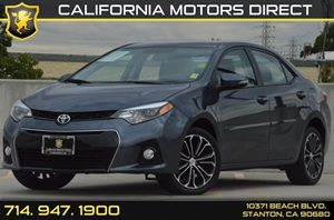 2015 Toyota Corolla S Carfax 1-Owner - No AccidentsDamage Reported 1 12V Dc Power Outlet 4 Cyli
