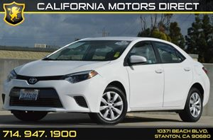 2015 Toyota Corolla LE Carfax 1-Owner 4 Cylinders Air Conditioning  AC Audio  AmFm Stereo