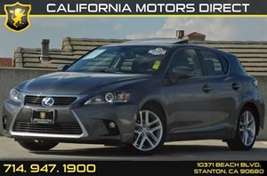 2015 Lexus CT 200h Hybrid Carfax 1-Owner 4 Cylinders Air Conditioning  AC Audio  AmFm Stere