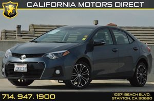 2014 Toyota Corolla S Plus Carfax 1-Owner - No AccidentsDamage Reported 4 Cylinders Air Conditi