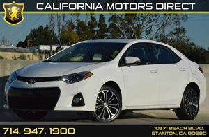 2015 Toyota Corolla S Plus Carfax 1-Owner 4 Cylinders Air Conditioning  AC Audio  AmFm Ster