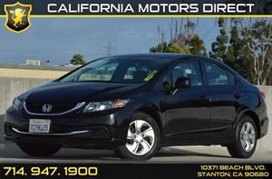 2013 Honda Civic Sedan LX Carfax 1-Owner - No AccidentsDamage Reported 4 Cylinders Air Conditio