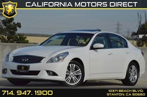 2013 INFINITI G37 Sedan Journey Carfax 1-Owner - No AccidentsDamage Reported 6 Cylinders Air Co