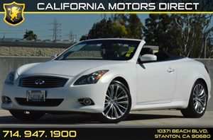 2011 INFINITI G37 Convertible Base Carfax Report 6 Cylinders Air Conditioning  AC Audio  Am