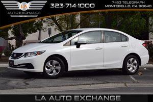 2014 Honda Civic Sedan LX Carfax 1-Owner  Taffeta White -12499 17047 Per Month -ON APPRO