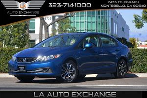 2013 Honda Civic Sdn EX Carfax 1-Owner  Dyno Blue Pearl 16398 Per Month -ON APPROVED CREDIT