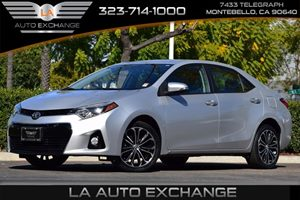 2014 Toyota Corolla S Carfax 1-Owner 476 Axle Ratio 80 Amp Alternator Airbag Occupancy Sensor