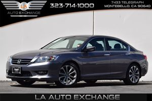 2014 Honda Accord Sedan Sport Carfax 1-Owner Airbag Occupancy Sensor Audio  Auxiliary Audio Inp