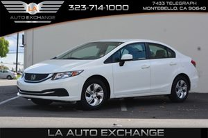 2013 Honda Civic Sdn LX Carfax 1-Owner - No AccidentsDamage Reported  Taffeta White  We are n