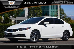 2015 Honda Civic Sedan SE Carfax 1-Owner - No AccidentsDamage Reported  Taffeta White 18996