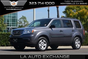 2014 Honda Pilot LX Carfax 1-Owner  Gray 26791 Per Month -ON APPROVED CREDIT--- ---