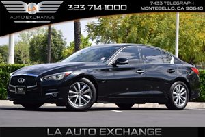 2014 INFINITI Q50 Premium Carfax 1-Owner - No AccidentsDamage Reported  Black Obsidian 2809