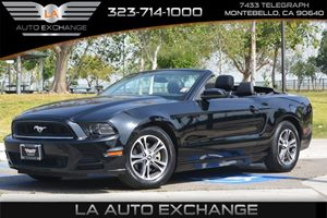2014 Ford Mustang V6 Premium Carfax 1-Owner  Black  We are not responsible for typographical e