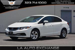 2014 Honda Civic Sedan LX Carfax 1-Owner  Taffeta White  We are not responsible for typographi