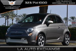 2013 FIAT 500e BATTERY ELECTRIC  Carfax 1-Owner - No AccidentsDamage Reported  Grigio Gray