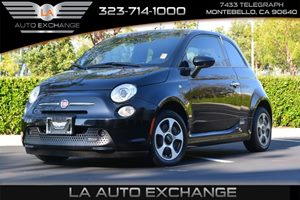 2015 FIAT 500e  Carfax 1-Owner - No AccidentsDamage Reported  Nero Puro Straight Black --