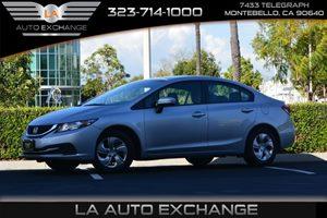 2014 Honda Civic Sedan LX Carfax 1-Owner - No AccidentsDamage Reported  Alabaster Silver Metal