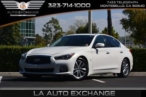 2014 INFINITI Q50 Premium Carfax 1-Owner  Moonlight White 27441 Per Month -ON APPROVED CREDI
